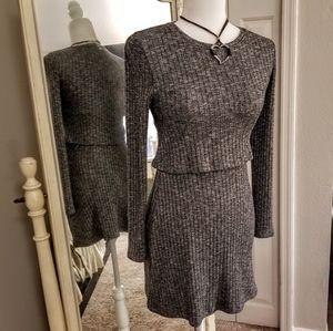 Abercrombie &Fitch Gray Stretch Sweater Dress XS